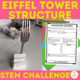 Digital Eiffel Tower STEM Challenge | Fork Stand | Distance Learning