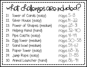 STEM Activity - 10 Challenges