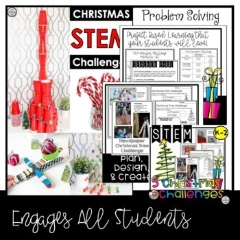 STEM Challenges For the Whole Year Bundle K-2 with Back to School STEM