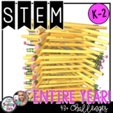 STEM Challenges For the Entire Year Bundle K-2 with Christ