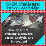 STEM Challenges: Heavy-Load Bridge STEM Activity (Science, Engineering, Math)