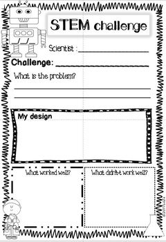 STEM Challenges + Scientist Sheet (multi level) English and Spanish