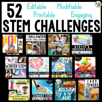 STEM Challenges and Activities Mega Bundle with Summer and End of Year STEM