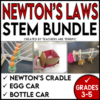 STEM Activities Challenge Bundle featuring Newton's Laws of Motion