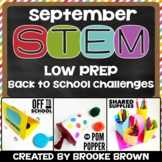 Back to School STEM Challenges (September)