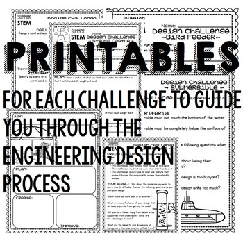 End of the Year STEM Challenges for Summer