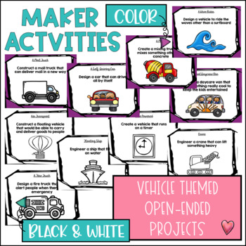 STEM Challenges for Thematic Units GROWING BUNDLE {Vehicles}