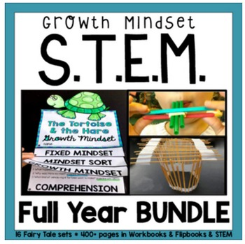 STEM Challenges for the ENTIRE YEAR (16 Sets with Growth Mindset Partner Plays)