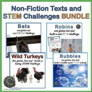 STEM Challenges with Informational Readings Bundle for Pri