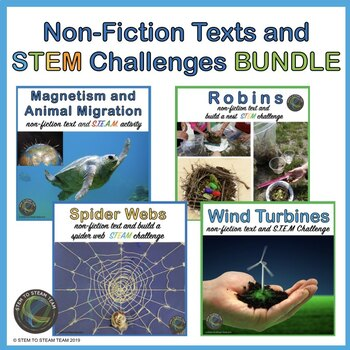 STEM Challenges with Informational Readings Bundle for Upper Elementary Grades