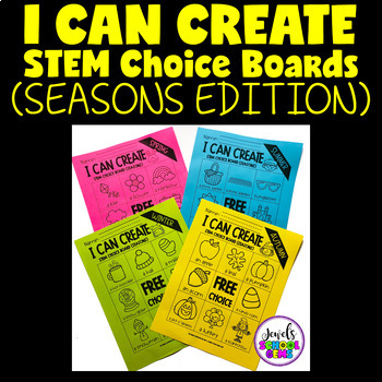 STEM Choice Boards FREE for Pre-K, Kindergarten, 1st Grade, and SPED