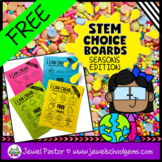 Home Learning and Distance Learning STEM Choice Boards FREE