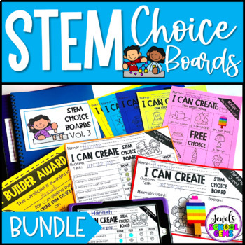 Distance Learning STEM Choice Boards BUNDLE for Pre-K, K and 1st Grade