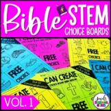Bible STEM Choice Boards for Pre-K, Kindergarten, 1st Grad