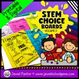STEM Choice Boards for Pre-K, Kindergarten, 1st Grade, and SPED (VOLUME 2)