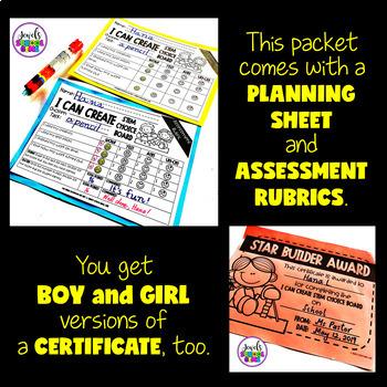 STEM Choice Boards for Pre-K, Kindergarten, 1st Grade, and SPED (VOLUME 3)