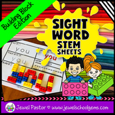 Sight Word STEM Sheets for Kindergarten and 1st Grade (Bui