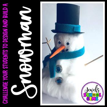 Winter STEM Activities (Snowman Winter STEM Challenge)