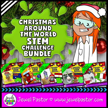 Christmas Around the World STEM Activities BUNDLE (Christmas STEM Challenges)
