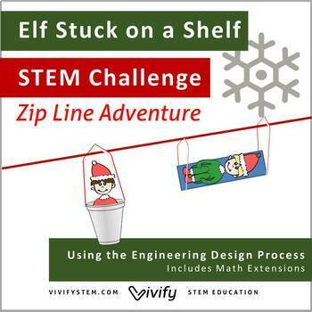 STEM Christmas Challenge: Elf Stuck on a Shelf Zip Line Adventure