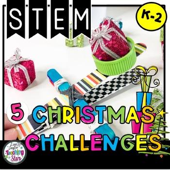 STEM Christmas Challenges K-2 Bundle
