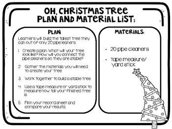 STEM Christmas Tree Stations