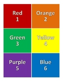 STEM Class Grouping: 6 Table Numbers, Colors, Names