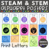 STEM Classroom Decor: ABCs of STEAM Alphabet Posters with