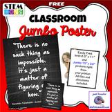STEM Classroom Jumbo Inspirational Poster Set