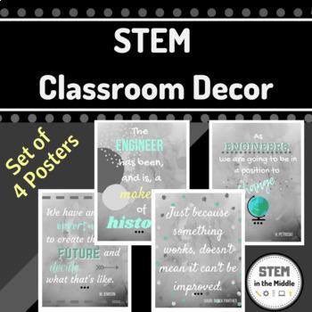 STEM Classroom Poster Bundle (Buy 3, Get 1 FREE!)