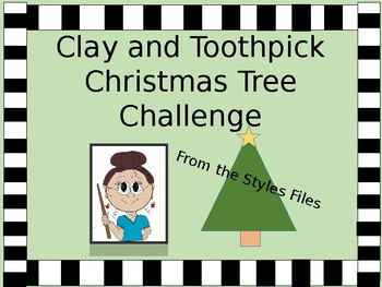 STEM Clay and Toothpick Christmas Tree Challenge