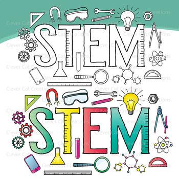 STEM Clip Art Letters – Middle School / Teen Kids