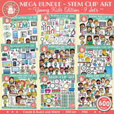 STEM Clip Art Mega Bundle - 9 sets