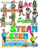 Clip Art: STEM-STEAM Science, Tech, Engineering, Art, 'n Math by HeatherSArtwork