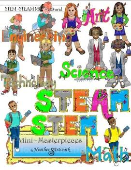 Clip Art: STEM-STEAM Science, Tech, Engineering, Art, 'n M