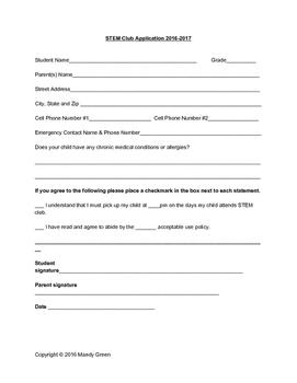 STEM Club Application