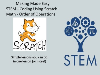 STEM Coding with Scratch: Math - Order of Operations