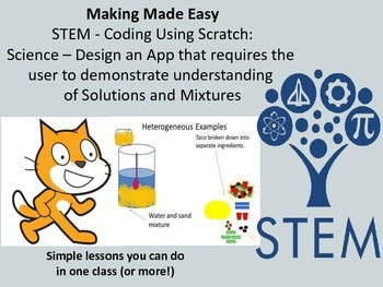 STEM Coding with Scratch: Science - Design a Mixtures and