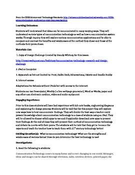 STEM -Communication Technology Scavenger Hunt and Rubric