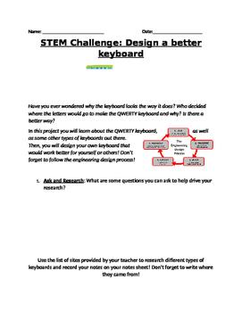 STEM Computer Project: Design a Keyboard!