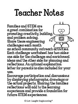 STEM Connections with Families! Spring Packet