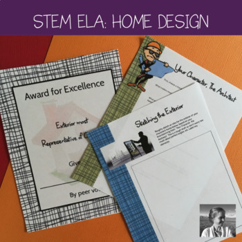 STEM Crossover English Activity: Literary Character designs a Home