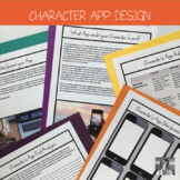 STEM English Activity: Character designs an App (ANY NOVEL)