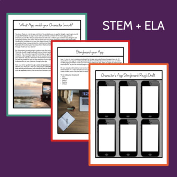 STEM ELA Activity: Character designs an App