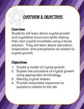 STEM - Crystals - Crystal Snowflakes