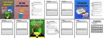 STEM DESIGN CHALLENGE: 3 DIFFERENT LESSONS:  GREAT FOR IB DESIGN