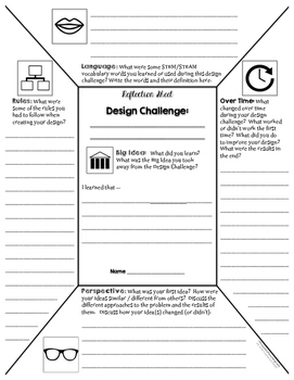 STEM D&C Icon Frames for Planning, Recording, and Reflection {STEAM}