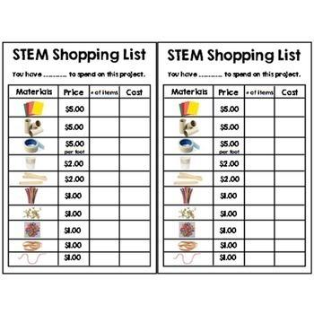STEM Design Brief Bundle {2nd Grade Math}