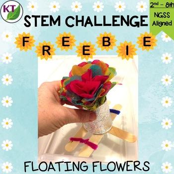 STEM Challenge: Floating Flower FREEBIE