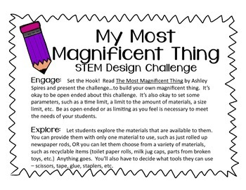 STEM Design Challenge - My Most Magnificent Thing